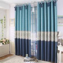 Nautical Window Curtains Nautical Style Blue Polka Dots And Lineated Curtains Buy Blue
