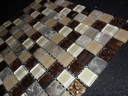 stone mosaic tile and details about harvest blend glass and stone