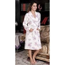 robe de chambre femme coton peignoir 100 coton femme blanc avec motif fleurs des chs
