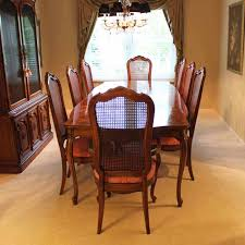 thomasville dining room sets thomasville dining room set with cane back chairs ebth