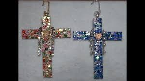 diy christmas card cross ornament recycle craft collab w
