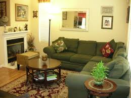living room living room decor ideas in green and beige theme with
