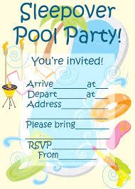 children pool party invitation card design idea for your