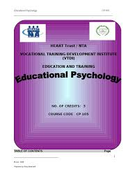 manual educational psychology educational psychology