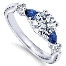 diamond rings sapphires images Gabriel er6002 round diamond and pear shape sapphires engagement jpg
