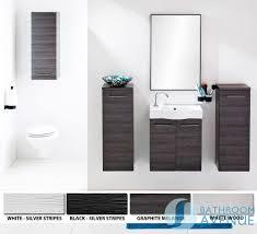 wall mounted bathroom storage unit black u0026 silver tramonto