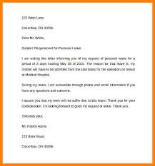 11 personal leave letter sample address example