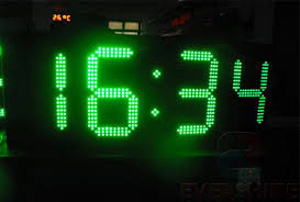 outdoor led countdown clock 10 inch green led 4 digits numbers