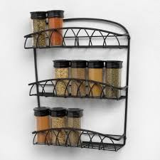 Wall Spice Racks For Kitchen Style Awesome Door Mounted Spice Rack Canada Image Of Wall