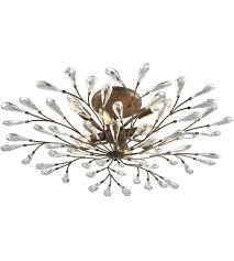 Bronze Semi Flush Ceiling Light by Elk 18242 8 Crislett 8 Light 32 Inch Sunglow Bronze Semi Flush