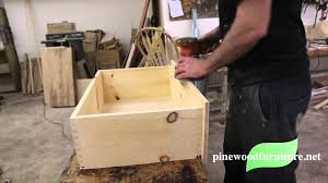 Wood For Furniture Pinewood Furniture The Finishing Process Youtube