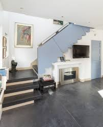 Living Room Design By Size Tv And Fireplace Are Recessed Under The Stairs So They Don U0027t
