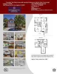 bel air floor plan just listed fantastic two story home in 90077 zip code bel air