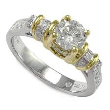 two tone gold engagement rings anzor jewelry 18k two tone gold solitaire engagement ring