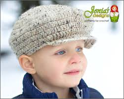 crochet pattern scally cap newsboy hat for baby infant
