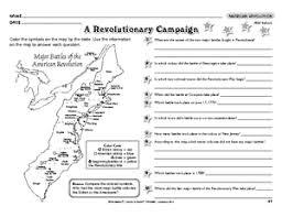 worksheet american revolution 4th grade social studies