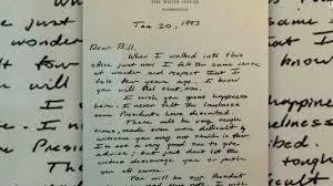 hillary clinton posts george h w bush letter left as he left