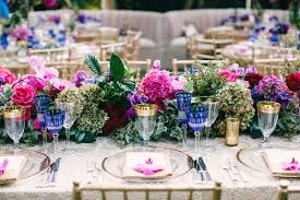 colorful outdoor wedding with supper club theme in los angeles