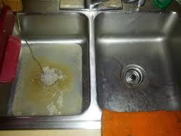 Clogged Sink Double Sink Kitchen Clogged On Left Side