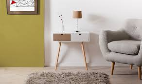 canapé en pin bout de canapé design en pin massif 2 tiroirs malo