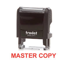 master copy office stock self inking rubber st master big foot