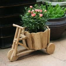 Flower Pot Sale Diy Creative Ideas Flowerpot Handmade Wooden Carts Green Flower