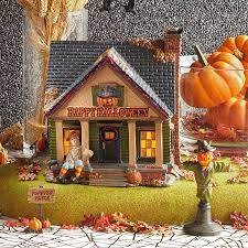 department 56 halloween village snow village halloween the scarecrow house set of 2 department