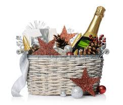 new year gift baskets gift basket stock photos royalty free business images