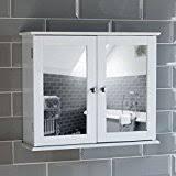 White Bathroom Cabinet With Mirror - double door white bathroom mirror cabinet mirrored bathroom
