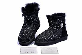 s ugg boots black cheap black starry sky sheepskin wool one ugg boots with