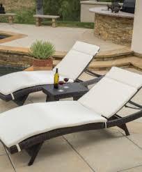 Outdoor Wicker Chaise Lounge Outdoor Wicker Patio Furniture Beachfront Decor
