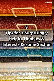 Best Resume Hobbies by Resume Writing Blogs Resume For Your Job Application