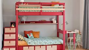 chambre fille avec lit superposé chambre enfant pour deux conseils d aménagement côté maison