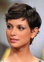 short hairstyles with long bangs hair style and color for woman