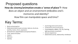 proposed questions how do cinema animation create a u0027sense of