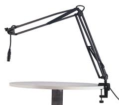 k u0026 m microphone desk arm w clamp table mount