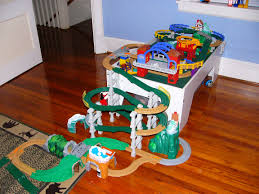 fisher price train table track descends from play table geotrax pinterest play table