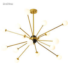 gold pendant light fixtures 6 12 16 heads modern gold pendant lights nordic g4 led light l