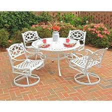 Resin Patio Furniture by Outstanding White Modern Patio Furniture Set With Glass Top Table