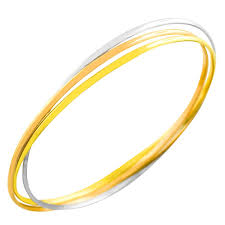 fremada 14k tri color gold set of three interlocking bangles