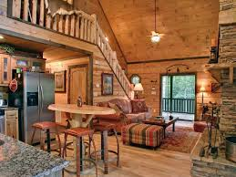 Comely Living Room Counter Height by Mesmerizing Open Floor Plan In Log Cabin House View Of Living Room