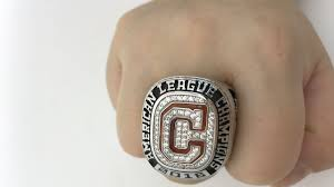 cleveland indians 2016 al championship rings replica youtube