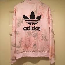 light pink adidas sweatshirt adidas pastel rose full zip up track jacket adidas logo