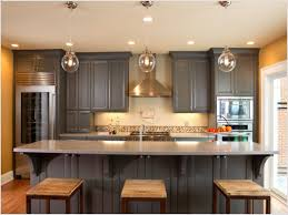 charcoal gray kitchen design with gray kitchen cabinets butcher