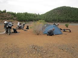 honda transalp rule no1 never set up camp on a dry river bed honda transalp