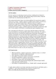 Psychology Research Assistant Cover Letter Cognitive Neuroscience Lab Job Opportunities