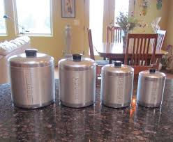 1950s aluminum canister set mid century kitchen storage containers