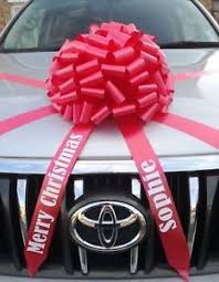 large gift bow bow for cars with personalised tails large gift bow all