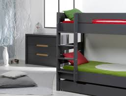 chambre lit superposé chambre enfant lit superposé milo anthracite chambrekids
