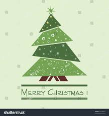 colorful illustration decorated green christmas tree stock vector